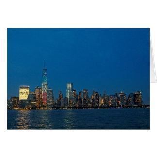 New night lights of New York City USA Card