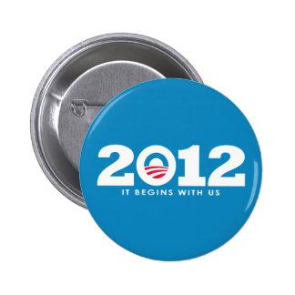 New Obama 2012 Logo 6 Cm Round Badge