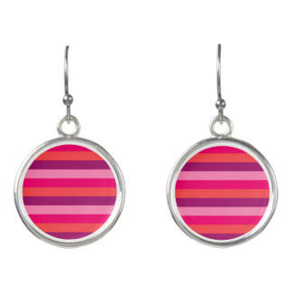New! Old-striped vintage Earrings in shop
