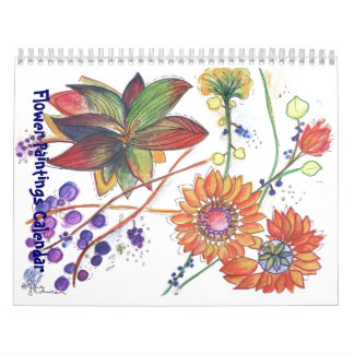 Watercolor Calendars Watercolor Wall Calendar Designs