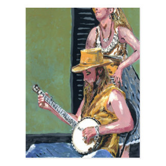 New Orleans Banjo Player Postcard