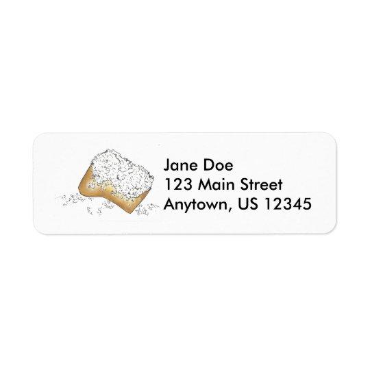 New Orleans Beignet Beignets Doughnut Pastry Return Address Label