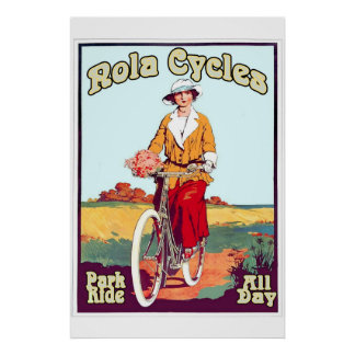 New Orleans Bicycle Vintage Style NOLA Cycles 2 Poster