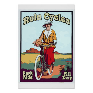 New Orleans Bicycle Vintage Style NOLA Cycles Poster
