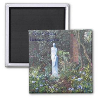 New Orleans Botanical Garden Square Magnet