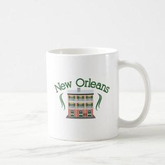 New Orleans Building Basic White Mug