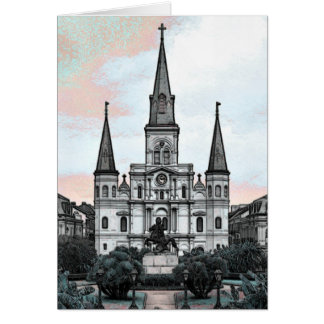 New Orleans Cathedral Card
