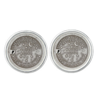 New Orleans Crescent Box Cover Cuff Links