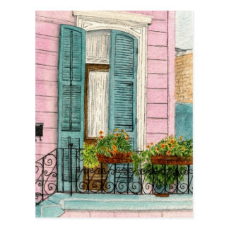 New Orleans Door with Shutters Postcard