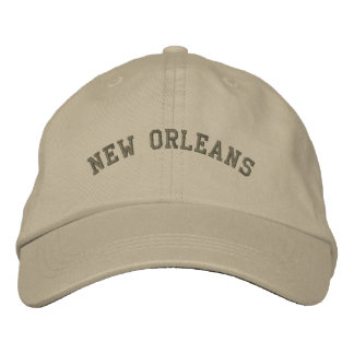 New Orleans Embroidered Basic Cap Olive Green