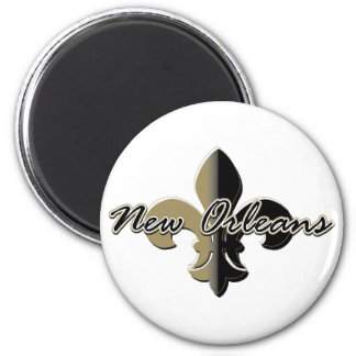 New Orleans Fleur de lis bk/gd Magnet