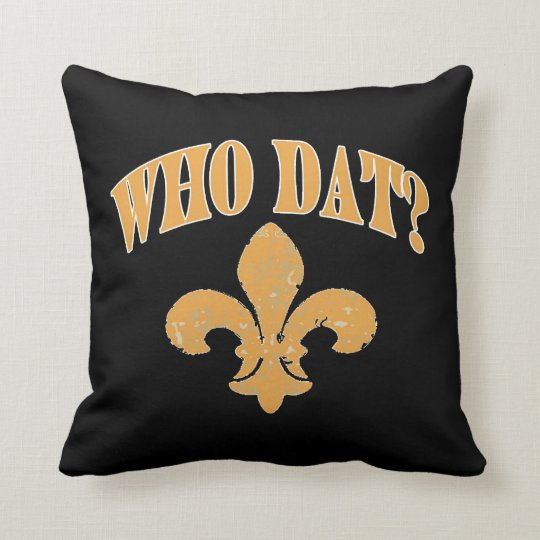 new Orleans fleur De Lis, Black and Gold Cushion