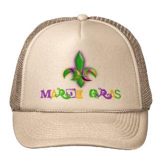 New Orleans Fleur-de-lis Mardi Gras Trucker Hats