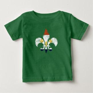 New Orleans Fleur De Lis NOLA flag Baby Tee Shirt