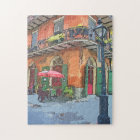 New Orleans French Quarter Alley Jigsaw Puzzle