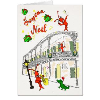 New Orleans French Quarter Joyeux Noël Card