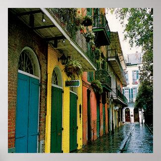New Orleans French Quarter Scene Poster Print