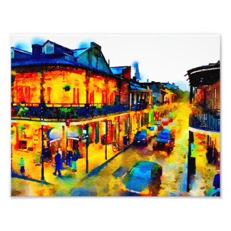New Orleans, French Quarter, Watercolor Photo Print