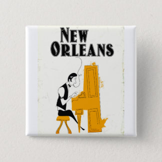 New Orleans Honky Tonk 15 Cm Square Badge