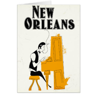 New Orleans Honky Tonk Card