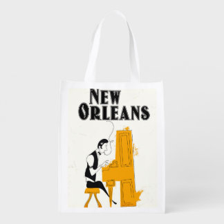 New Orleans Honky Tonk Reusable Grocery Bag