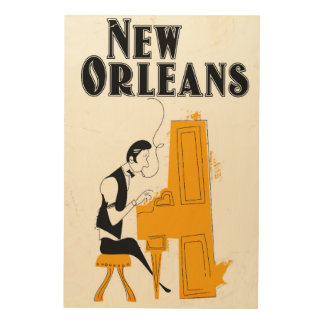 New Orleans Honky Tonk Wood Print
