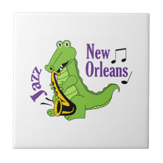 NEW ORLEANS JAZZ CERAMIC TILE