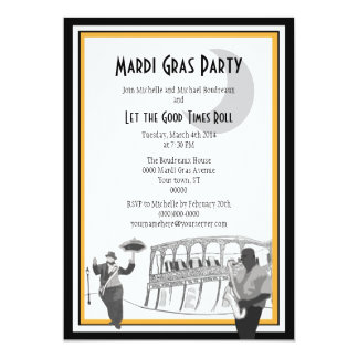 New Orleans Jazz Mardi Gras Card