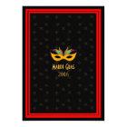 New Orleans Jazz Mardi Gras Red Card