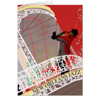 NEW ORLEANS JAZZ STYLE by Slipperywindow Card