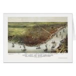 New Orleans, LA Panoramic Map - 1885 Card