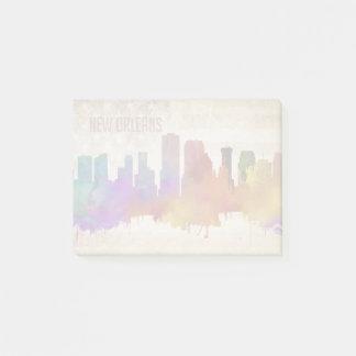 New Orleans, LA | Watercolor City Skyline Post-it Notes