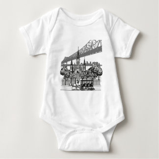 New Orleans Louisiana Baby Bodysuit