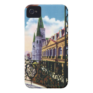 New Orleans Louisiana Cathedral and Balcony iPhone 4 Cases