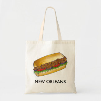 New Orleans Louisiana Fried Oyster Po'Boy Sandwich Tote Bag