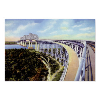 New Orleans Louisiana Huey Long Bridge Poster
