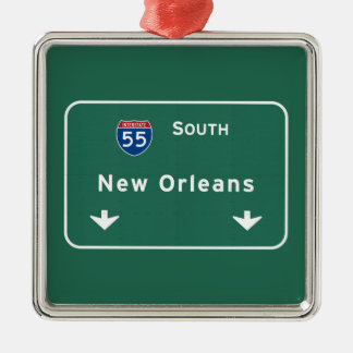 New Orleans Louisiana Interstate Highway Freeway : Metal Ornament