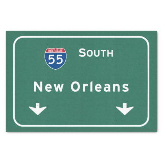 New Orleans Louisiana Interstate Highway Freeway : Tissue Paper