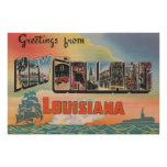 New Orleans, Louisiana - Large Letter Scenes Print