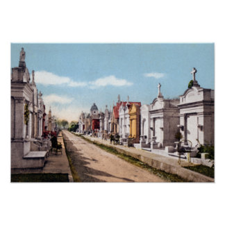 New Orleans Louisiana Metairie Cemetery Poster