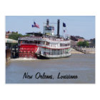 New Orleans Louisiana Mississippi River Boat Postcard