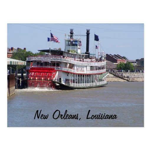 New Orleans Louisiana Mississippi River Boat Post Card