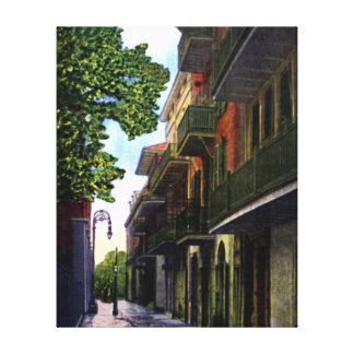 New Orleans Louisiana Pirates Alley Gallery Wrapped Canvas