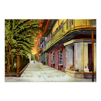 New Orleans Louisiana Pirates Alley French Quarter Poster