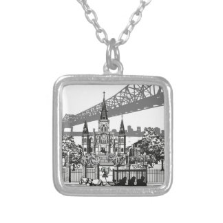 New Orleans Louisiana Silver Plated Necklace