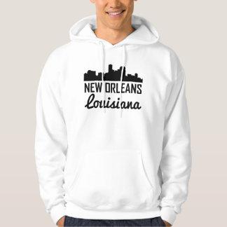 New Orleans Louisiana Skyline Hoodie