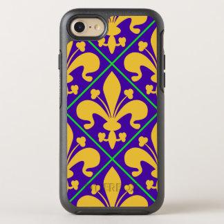 New Orleans Mardi Gras Fleur de Lis OtterBox Symmetry iPhone 8/7 Case