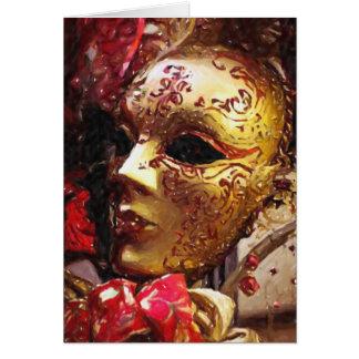 New Orleans Mardi Gras Mask Greeting Card