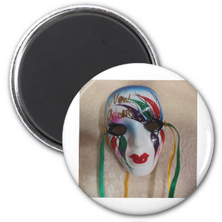 New Orleans Mardi Gras Mask Magnet