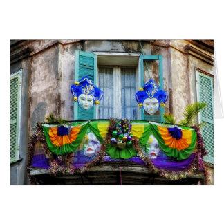 New Orleans Mardi Gras Masks Card